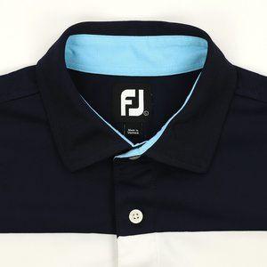 FootJoy FJ Golf Polo Shirt Large Navy Blue